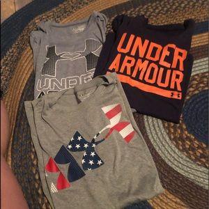 Xl boys under armor shirts